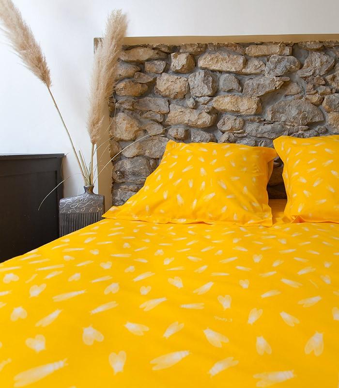 housse de couette motif cigales coton 57 fils terracicada. Black Bedroom Furniture Sets. Home Design Ideas