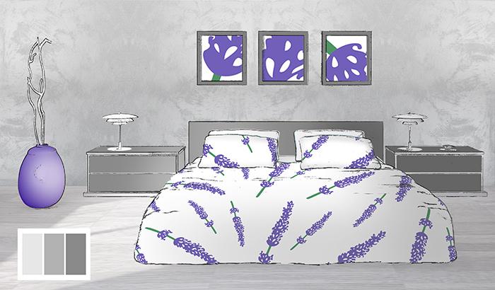 couleurs d co chambre avec le violet des parures lavande blog linge de lit et v tement de nuit. Black Bedroom Furniture Sets. Home Design Ideas